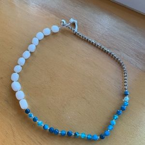 Jewelry - 5/$25 turquoise white silver color stone necklace